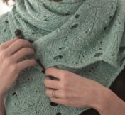 Woman with knit shawl
